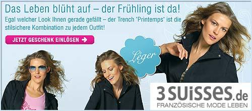 3 Suisses - Kurztrench